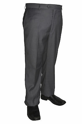 Mens White Poly Rayon Dress Pants Slacks Flat Front Trousers Sizes 28 to 52