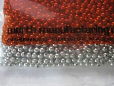 "50 1/8"" Hollow Nickel Plated Beads<U.S. Made>for Fishing applications"