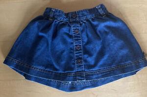 Girls Denim Skirt 18-24 Months Debenhams Button detail