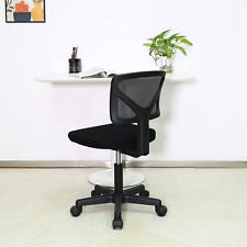 Mesh Back Computer Chair Office Chair Low Backrest Task Chair Armless Adjustable