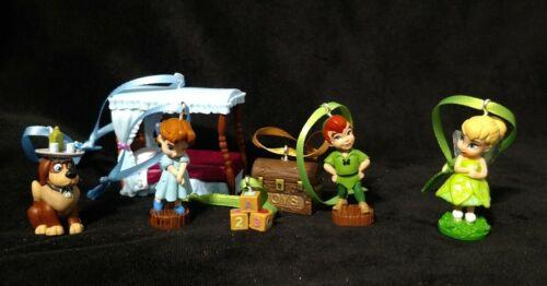 Disney Peter Pan Christmas Ornament Set Animator Tinkerbell Nana