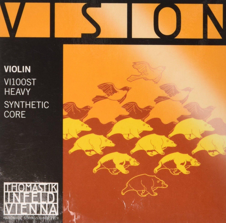 Thomastik-Infeld VI100ST Vision Violin Strings, Complete Set, Stark (Heavy) Tens