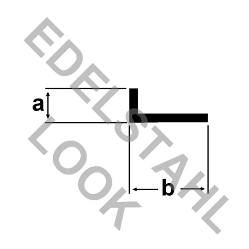 Alu Winkel EDELSTAHL LOOK 1 Meter ELOXIERT Aluprofil Winkelstange Winkprofil UG