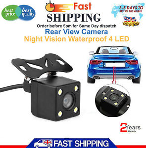 1x 4led Ir Night Vision Car Reversing Rear View Dynamic Trajectory Camera Safety Safety & Security