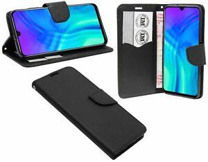 Style-Livre-Telephone-Portable-Cas-Sac-Etui-Accessoire-en-Noir-de-Honor-20-Lite