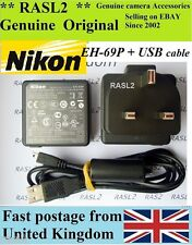 Genuine NIKON EH-69P AC ADAPTER CoolPix S70 S80 S100 S1200pj P100 S5100 S6000 UK