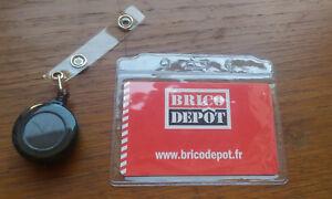 2 Retractable Enrouleur Pince Boucle Porte Badge Carte