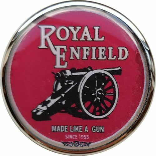 Royal Enfield Moto Rouge Logo Argent Couleur Bord Bouton Badge