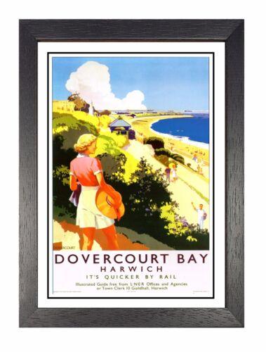 Dovercourt Railway Vintage Harwich Beautiful Amazing Price Poster  Essex Advert