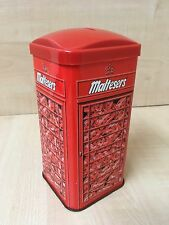 Vintage Maltesers Chocolate Money Box Tin 1991 Retro Storage London Phone Box