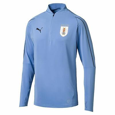 pretty nice ef0fd d1eb9 NEW 2019 Puma Uruguay AUF Jacket Training Top Quarter 1/4 Zip Blue - Size  MEDIUM | eBay