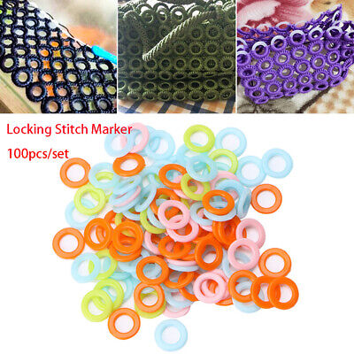 100pcs//set Weave Tools Locking Stitch Marker Crochet Ring Sewing Accessories