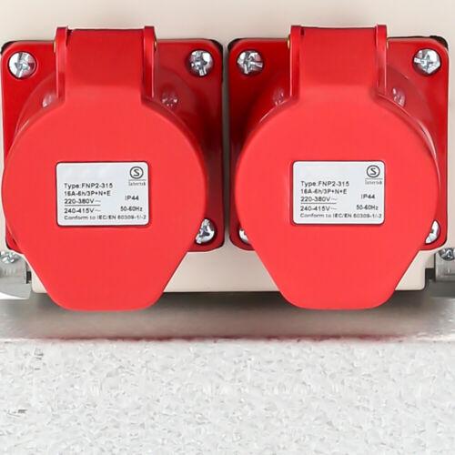 16A Stromverteiler Baustromverteiler Adapter Kraftstrom Verteiler Baustrom IP44
