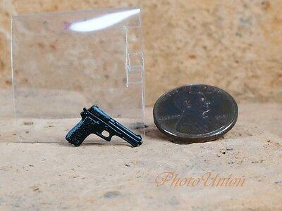 """Hasbro GI Joe 1:18 Action Figure Accessory 3.75"""" Beretta 92 Pistol Handgun G20_T"""