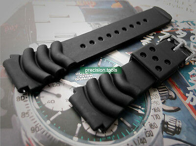 2 Pair Oyster Soft Rubber 22mm Strap For Diver SKX007 009 SCUBA 0521