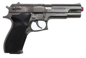 NEW-Gonher-S-amp-W-Spy-Police-Auto-Style-Toy-Cap-Gun-Revolver