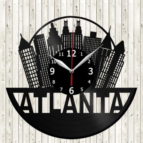 Details about  /Atlanta Vinyl Record Wall Clock Decor Handmade 5111