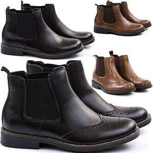 Stivali-Stivaletti-Scarpe-Uomo-Pelle-PU-Polacchini-Anfibi-Sneakers-Camperos-S42s