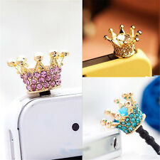 Crown 3.5mm Anti Dust Earphone Plug Cover Stopper Cap For Phone color random New