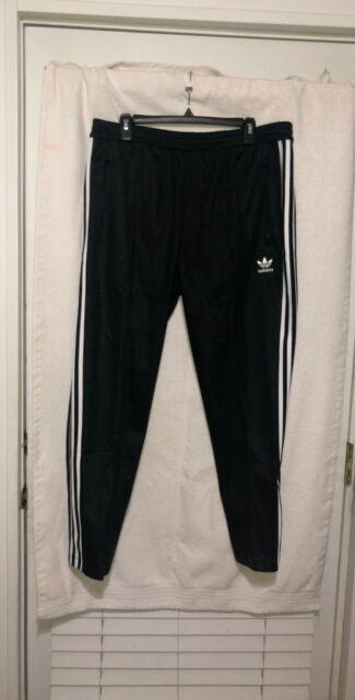 NEW MEN/'S ADIDAS ORIGINALS BECKENBAUER TP TRACK PANTS BLACK WHITE XL