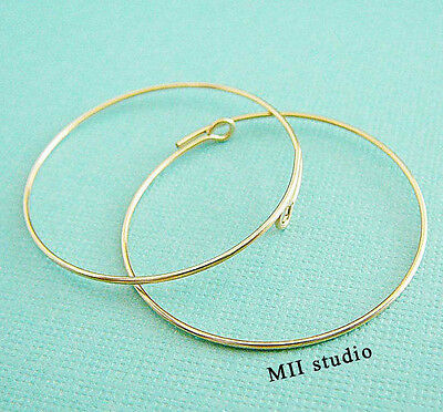 10pc 15mm 14k Yellow Gold Filled round wire endless Beading hoop earring earwire