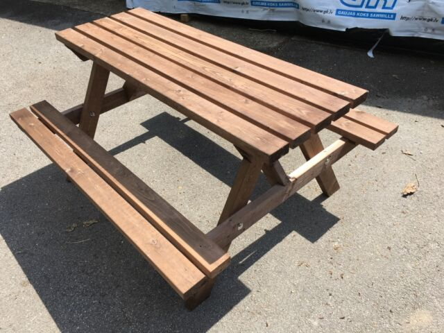 Outstanding Wooden Picnic Table Bench Pub Garden Outdoor Camellatalisay Diy Chair Ideas Camellatalisaycom