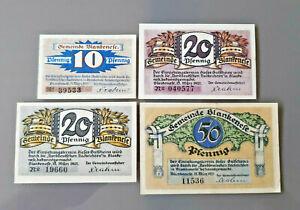 BLANKENESE-HAMBURG-NOTGELD-10-2x-20-50-PFENNIG-1921-NOTGELDSCHEINE-12083