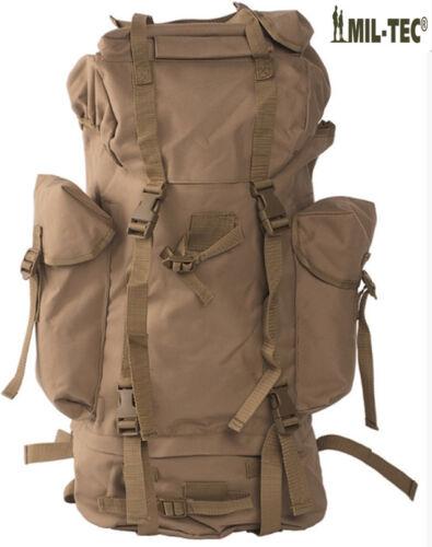 Army Combat Military Travel Rucksack Camping Backpack Surplus 65L Black New