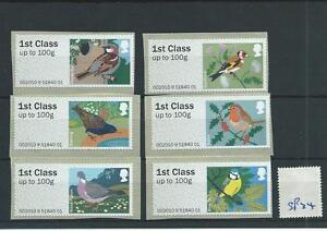 wbc. - GB - SP34 - POST & GO BIRDS - 6 x 1st - 1st SERIES - self adhesive