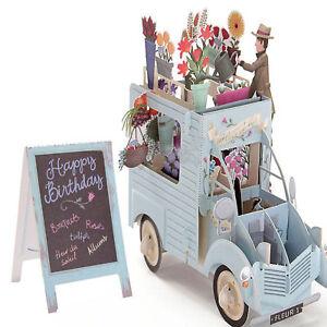 3D-Handmade-Pop-Up-Flower-Car-Greeting-Happy-Birthday-Invitations-Cards-Gift