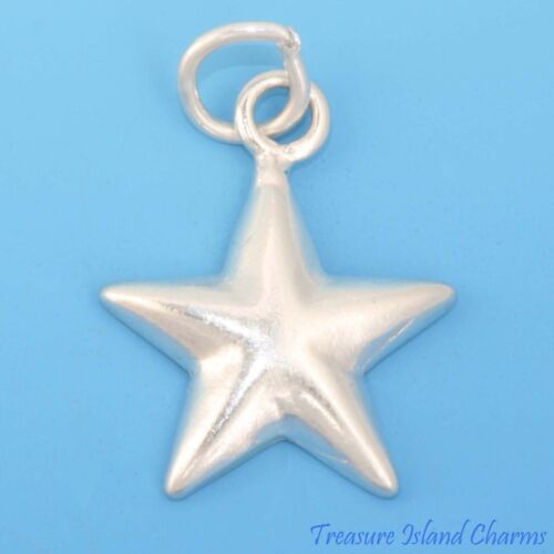 Five Pointed Star Pentacle .925 Sterling Silver Charm Pendant MADE IN USA