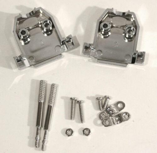 DB-15 DB15 DB 15 Metalized Plastic Hood Cover with Thumb Screw for DB15 Serial