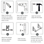 LIVEHITOP-Foldable-Wall-Mounted-Clothes-Rail-2-Pieces-Coat-Hanger-Racks-Dryer thumbnail 5