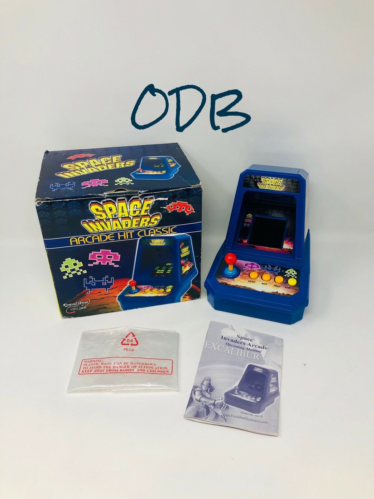 Excalibur Space Invaders () Box Inserts Manual