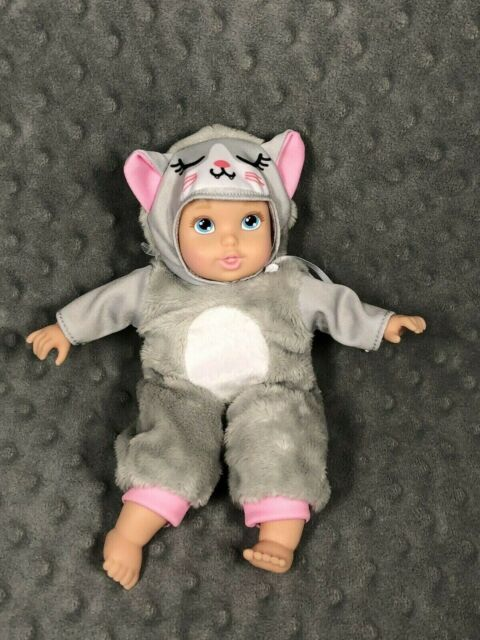 8 inch Doll Baby Doll with Blue eyes and Blonde Pigtails Gotz Mini Muffin