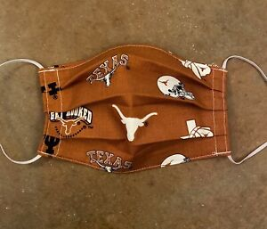 Fabric-Face-mask-Handmade-Washable-Reusable-UT-Texas-Longhorns-Football