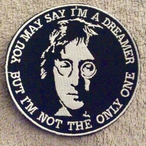 3.5 inch JOHN LENNON IMAGINE IRON ON  PATCH BUY 2 GET 1 FREE = 3  OF THESE