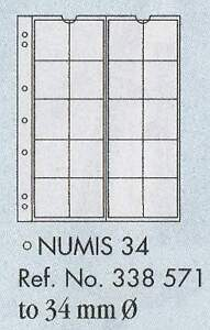 Numis-coin-pages-Numis-34-5-sheets-amp-white-interleaving