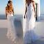 Les femmes col V dos nu soirée robe de cocktail robe de bal de mariage en dentelle Parti sirène