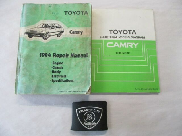 1984 Toyota Camry Service Shop Repair Manual  U0026 Electrical Wiring Diagrams