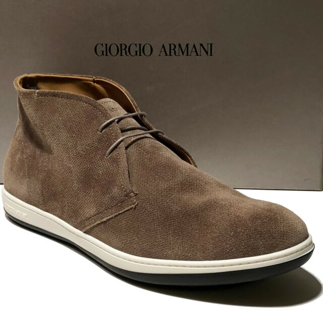 6132bb6b27c Armani ITALY Men s 13 Brown Tan Suede Leather Ankle Fashion Desert Boots  X2M049