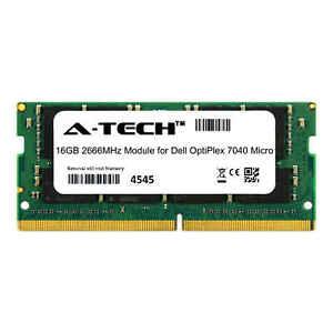 A-Tech-16-Go-2666-MHz-DDR4-RAM-pour-Dell-OptiPlex-7040-Micro-PC-De-Bureau-mise-a-niveau-de-Memoire