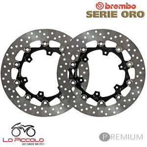 KTM-ADVENTURE-R-990-2010-2011-2012-COPPIA-DISCHI-FRENO-ANT-BREMBO-SERIE-ORO