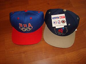 USA OLYMPIC OLYMPICS 1996 DREAM TEAM JORDAN LOT 90 S HAT CAP VINTAGE ... 563095abb