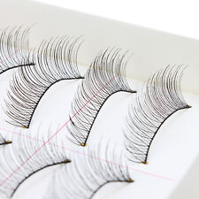 10Pairs Makeup Handmade Natural Fashion Long False Eyelashes Eye Lashes Sparse