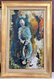 """Grande Huile sur toile signée Jean-François DOLBEAU, intitulée """"Le timide"""""""
