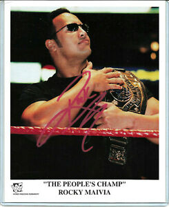 WWE-THE-ROCK-HAND-SIGNED-AUTOGRAPHED-8X10-PROMO-PHOTO-WITH-COA-VERY-RARE