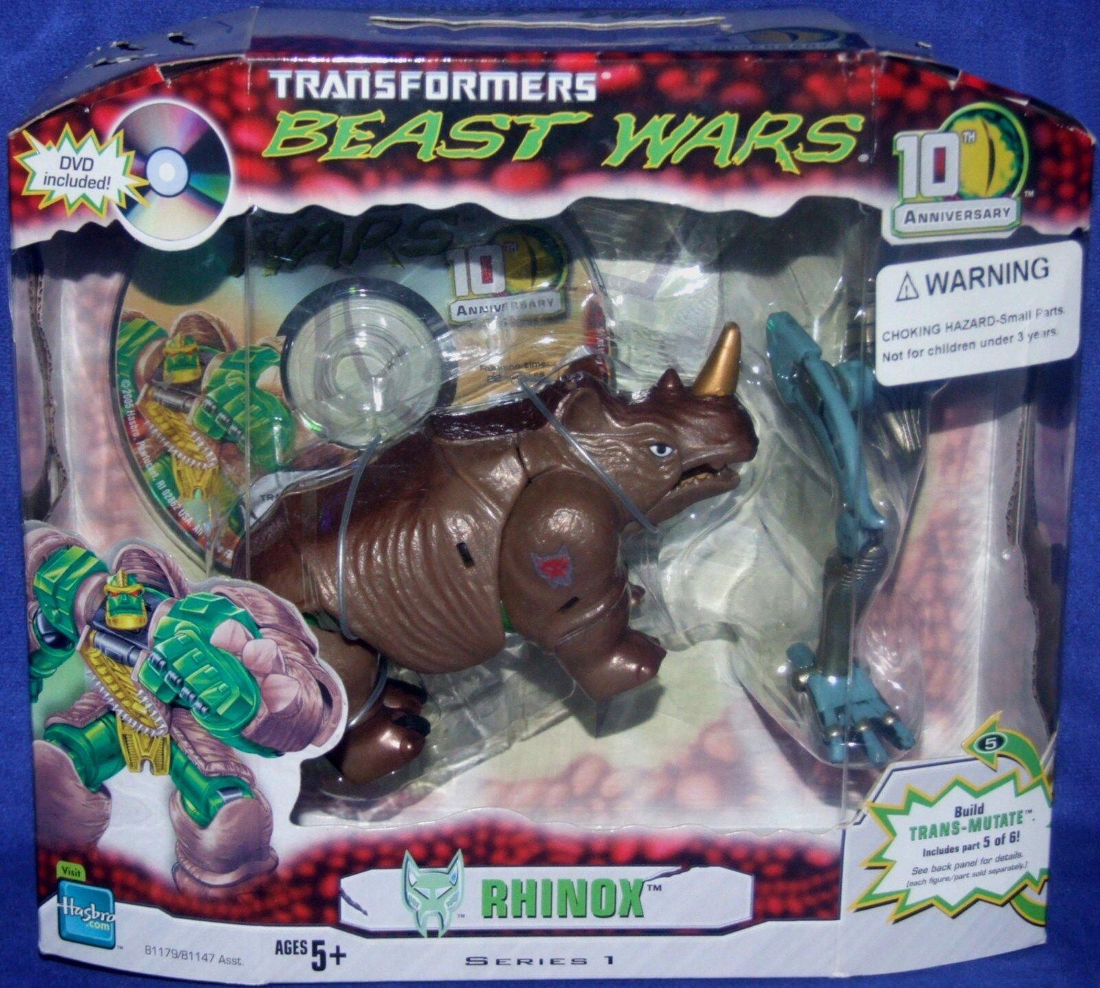 Transformers Beast Wars 10th Anniversary RHINOX New Factory Sealed 2005