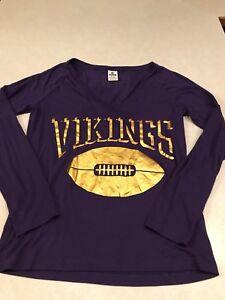 b8c4338ed Victoria s Secret Pink Minnesota Vikings NFL Long Sleeve T-Shirt Top ...