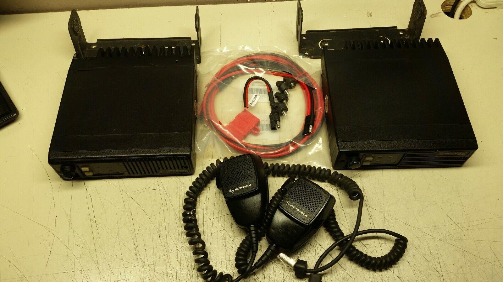 GMRS LOT OF 2 MOTOROLA RADIO UHF 440 -470 MHz 30 WATT HAM GMRS FREE PROGRAM MICS. Available Now for 98.00